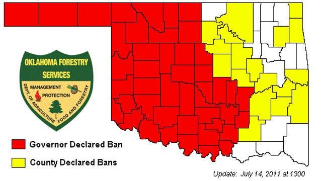Oklahoma Governor Issues 45-County Burn Ban