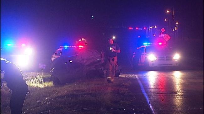 Two Women Injured In Overnight Tulsa Wreck