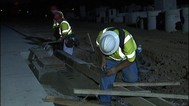 Tulsa Road Construction Crews Work After Dark To Beat Heat