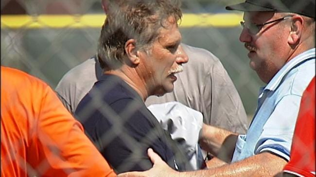 Jenks Umpire Succumbs To Heat, Passes Out During Game