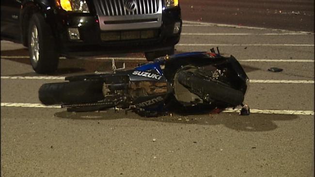 Motorcyclist Injured In High Speed Tulsa Wreck