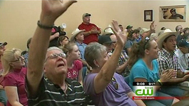 Cowboy Junction Church Members Hold Service Day After Fire
