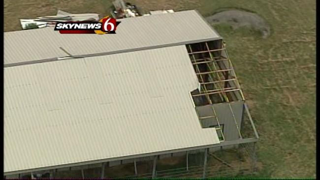 Thunderstorm Injures One, Causes Damage Near Chouteau