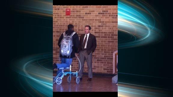 Alabama Coach Nick Saban Visits Heritage Hall