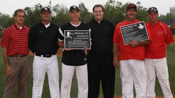 Bishop Kelley Honors MLB's O'Brien and Wrona