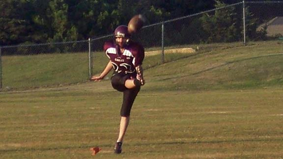 Eagles' Female Punter Swaps Ballet Slippers for Cleats