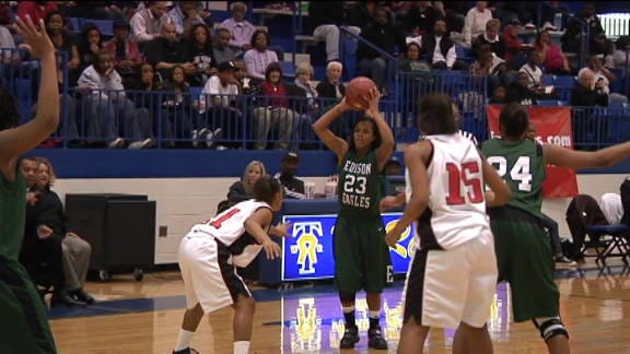 East Central Girls Hold Off Edison