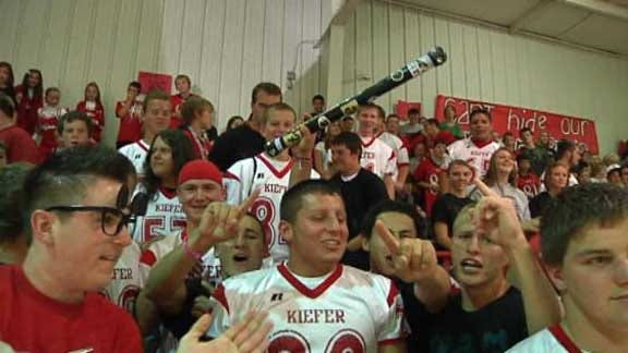 Kiefer Trojans Honored with Spirit Stick