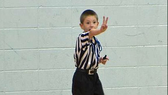 Six-Year-Old Officiates Middle School Basketball