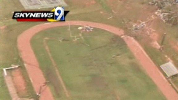 Tornado Rips Through Little Axe Football Stadium