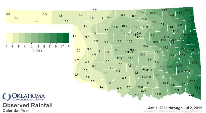 100% Chance of Rain - Somewhere in Eastern Oklahoma!