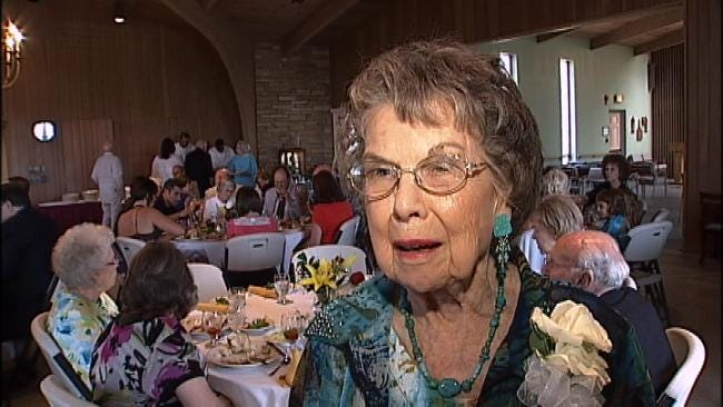 CBS News Anchor Scott Pelley Celebrates Mother-In-Law's Birthday In Tulsa