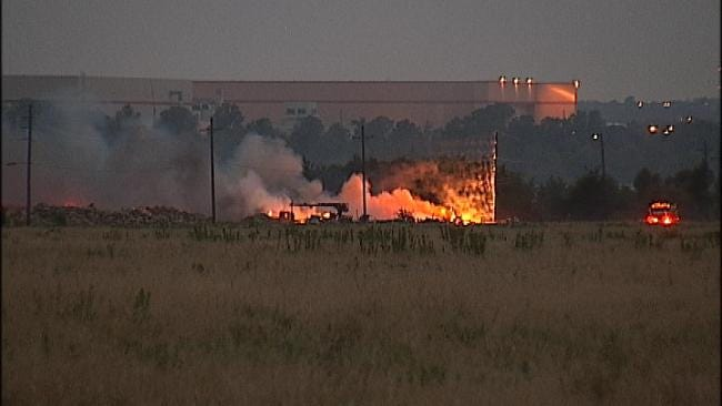 Downed Power line Sparks Grass Fire In Northeast Tulsa