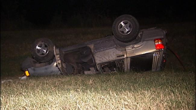 Passing Drivers Lead Tulsa Police To Rollover Victim