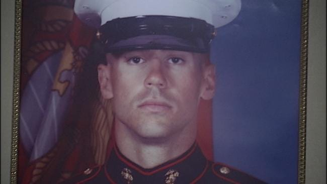 Fallen Marine, Former Tulsa Officer Honored At Ceremony