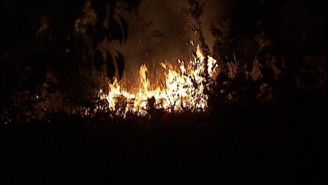 Fireworks To Blame For West Tulsa Grass Fire