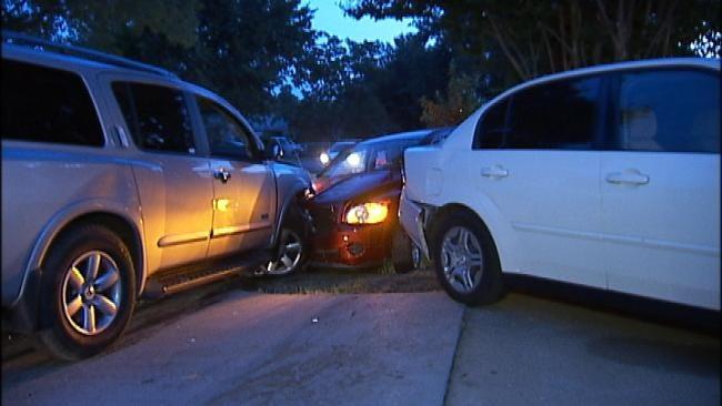 Stolen SUV Found Crashed In West Tulsa Driveway