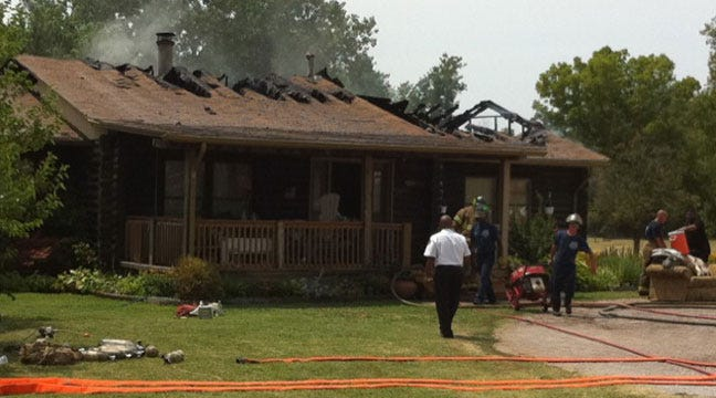 Tulsa Firefighter Injured In Log House Blaze