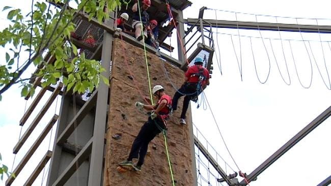 Tulsa Fire Cadets Practice Rope Rescues