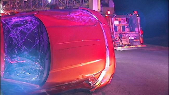 Man Critically Injured In Tulsa Rollover Wreck