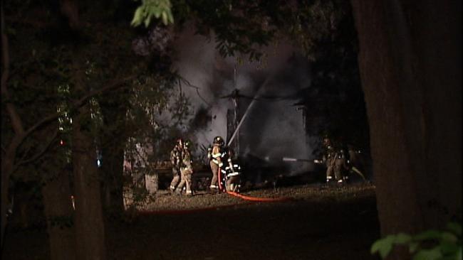 Spectacular Fire Destroys Vacant Tulsa Home