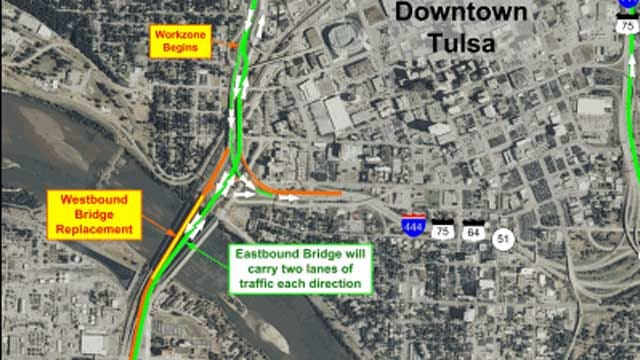 Tulsa's Westbound I-244 Bridge Set To Close This Weekend