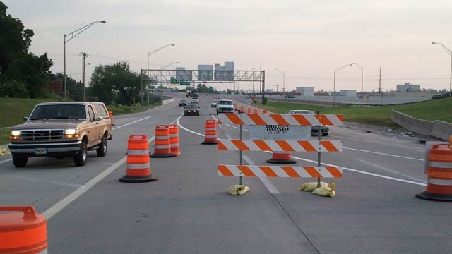 Bridge Closing Prompts I-244 Traffic Shift Just South Of Downtown Tulsa