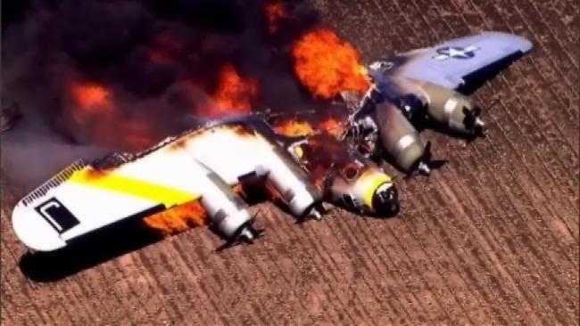 Vintage B-17 Bomber, Frequent Visitor To Tulsa, Destroyed In Illinois