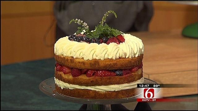 Honey Polenta Shortcakes with Mascarpone Cream and Fresh Summer Berries