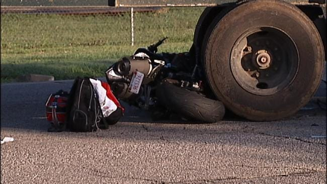 Motorcyclist Seriously Injured In Tulsa Crash With Semi
