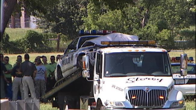Tulsa Police Cadet Crashes Car During High Speed Training