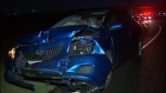 Blown Tire Blamed For Tulsa Highway Crash