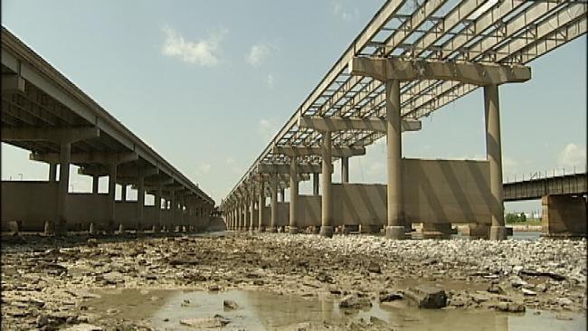 Arkansas River Bridge Coming Down Piece By Piece