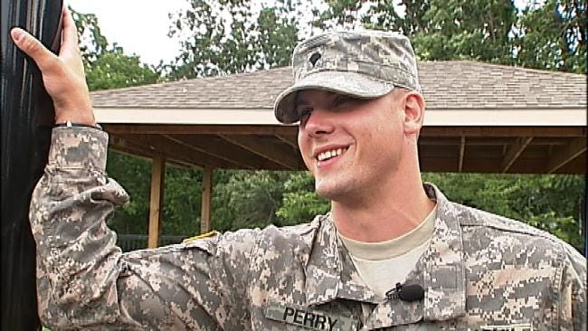 Tahlequah Father Spends Day With Family Before Middle East Deployment