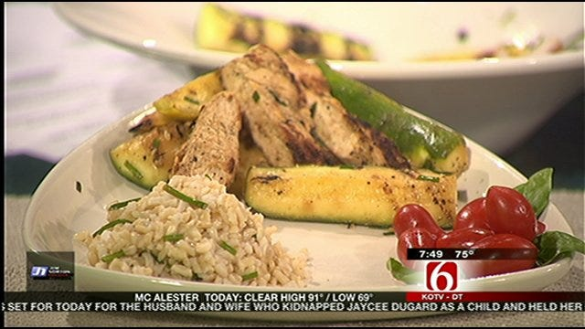 Grilled Lemon Chicken and Squash