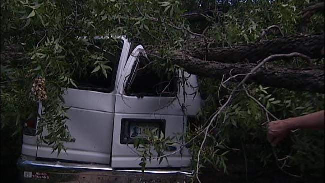 Tulsans Clean Up After Strong Storms Blow Through