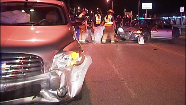 Man Faces Public Intoxication Charges After Tulsa Head-On Crash
