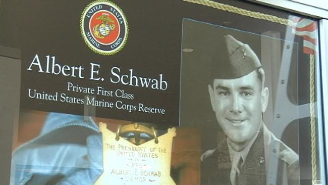 Tulsa's First Medal Of Honor Recipient Honored At Airport