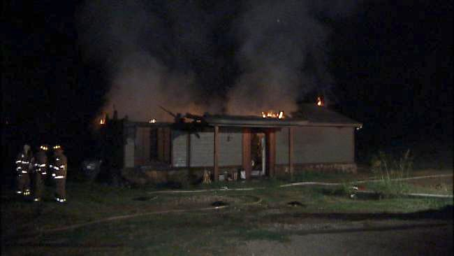 Driver On Turner Turnpike Reports Sapulpa House Fire