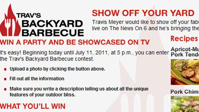 Win A Backyard Barbecue With Travis Meyer And The News On 6