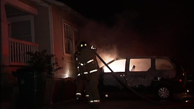 Authorities Looking For Tulsa Minivan Arsonist