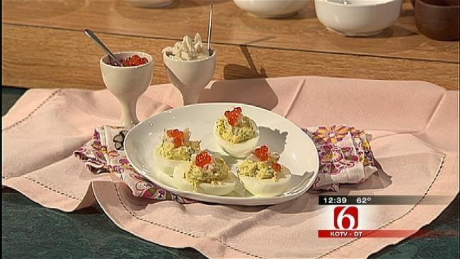 Crab Salad Deviled Eggs
