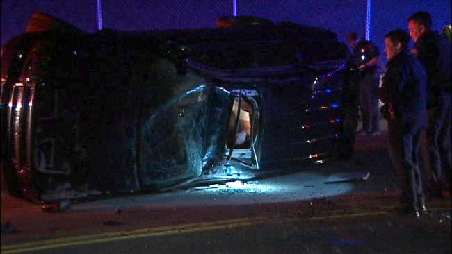 Police Suspect Alcohol A Factor In Tulsa Rollover Wreck