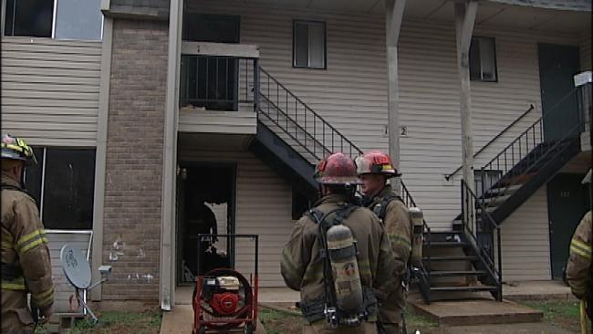 Three Children Home Alone Uninjured In Tulsa Apartment Fire