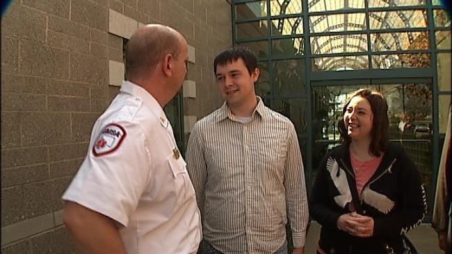 Binge-Drinking Student Meets Paramedics Who Saved Him