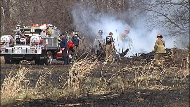 Grass Fire Comes Dangerously Close To Tulsa Homes