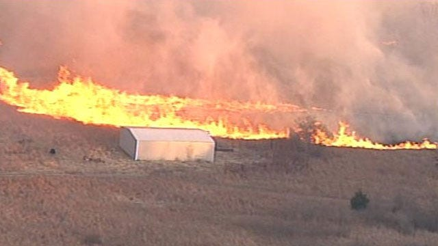 Warm Temperatures, Gusty Winds Bring High Fire Danger To Oklahoma