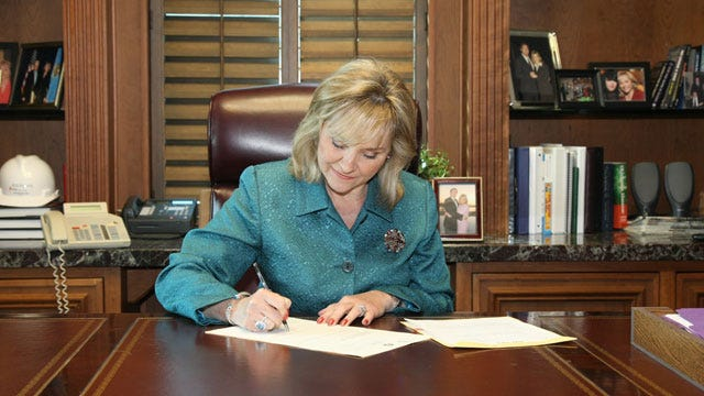 Governor Fallin Signs First Piece Of Legislation Into Law