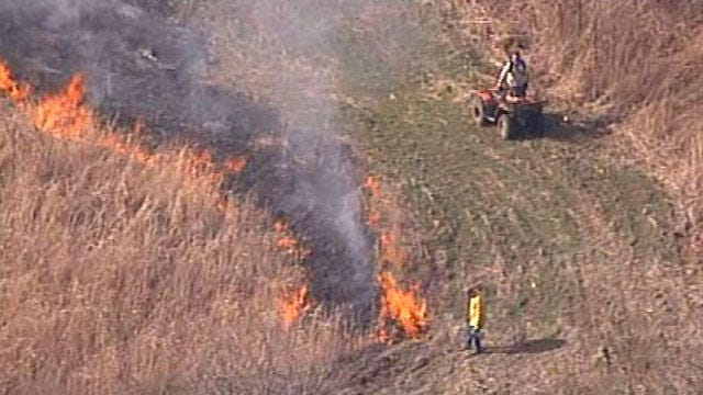 Firefighters Battle Green Country Grass Fires For Third Day In A Row