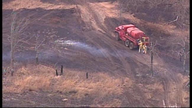 Wildfire Near Mannford Threatened Homes